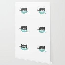Cats & Tea Wallpaper