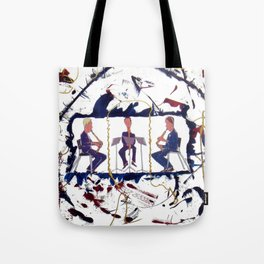 MOZART:  Divertimento for three Basset Horns     by Kay Lipton Tote Bag