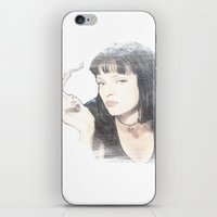 pulp fiction iPhone & iPod Skins featuring Pulp Fiction by EclipseLio