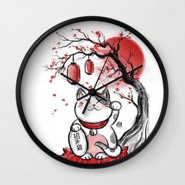 Japanese Neko Wall Clock
