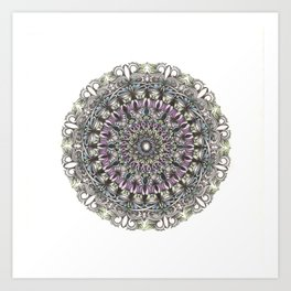 Colour Mandala Art Print
