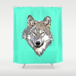 Wolf Face Shower Curtain