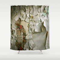 detroit Shower Curtains featuring Detroit Kitsch by Riot Jane