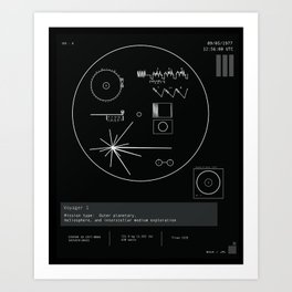 Voyager 1 - Black Art Print