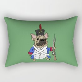 French French Bulldog with background (best for phone cases!) Rectangular Pillow