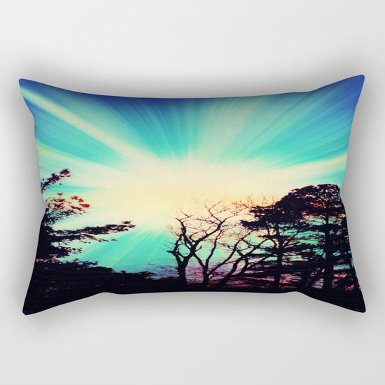 Black Trees Hopeful SKY Rectangular Pillow