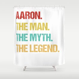 Mens Aaron Name Gift design Shower Curtain