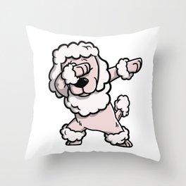Dabbing Poodle Dog Dab Dance Throw Pillow