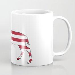 """Deer """"American Flag"""" Coffee Mug"""