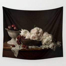 Peonies&Plums Wall Tapestry