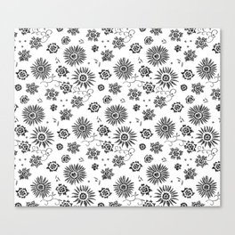 Flowers embroidery Canvas Print