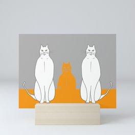 Cat sarcophagus Mini Art Print