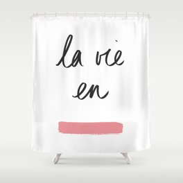 La Vie en Rose x Telma W. Shower Curtain