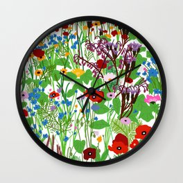 Wildflower day Wall Clock