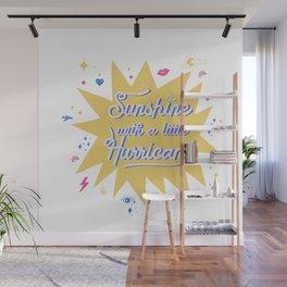 Sunshine with a little hurricane Wall Mural