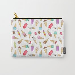Scattered Ice Creams and Ice Lollies Carry-All Pouch