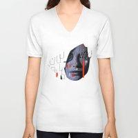 labyrinth V-neck T-shirts featuring Labyrinth by Daniel Malta