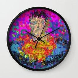 Super Type Man - Abstract Pop Art Comic Wall Clock