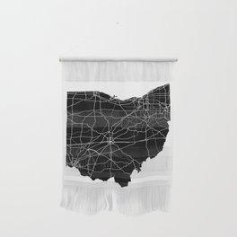 Ohio Black Map Wall Hanging