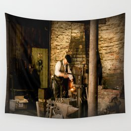 Sparks flying. Wall Tapestry