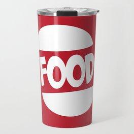 FOOD logo fun generic food logo Travel Mug