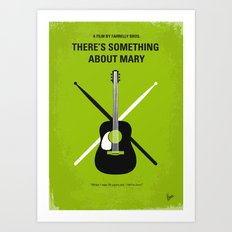 No286 My There's Something About Mary minimal movie poster Art Print