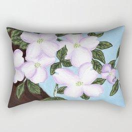Cardial on Dogwood Tree Rectangular Pillow