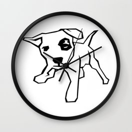 100 Days of School Survived 100 Days of Me Dog Wall Clock