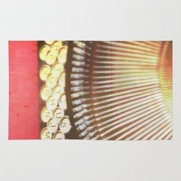 Typewriter photograph print. Remy. Rug