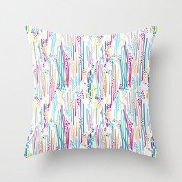 Rainbow Doodle & Dot Throw Pillow