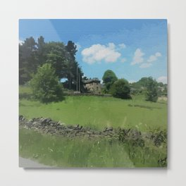 country landscape Holmfirth Metal Print