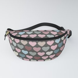 Valentines Hearts- Gray Background Fanny Pack