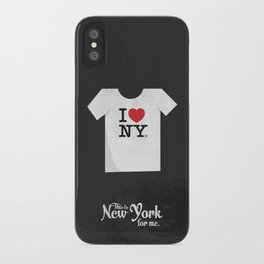 """This is New York for me. """"I love NY tee"""" iPhone Case"""