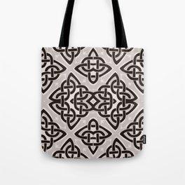 Kaleidoscope Celtic Knot Pattern Print Tote Bag
