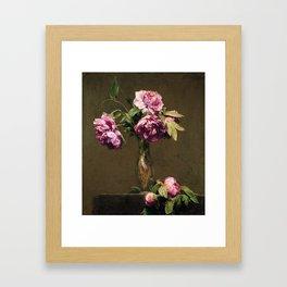 Henri Fantin Latour Roses Foncees, roses Framed Art Print