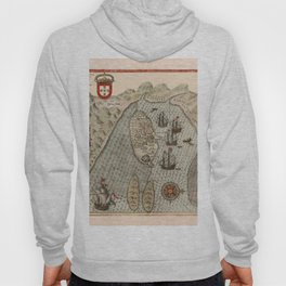 Map Of Mozambique 1614 Hoody