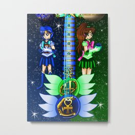 Fusion Sailor Moon Guitar #13 - Sailor Mercury & Sailor Jupiter Metal Print