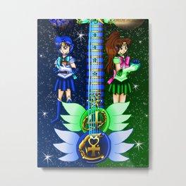 Fusion Sailor Moon Guitar #13 - Sailor Mercury & Sailor Jupiter Metal Print