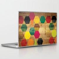 bebop Laptop & iPad Skins featuring Wood Prints by Simi Design