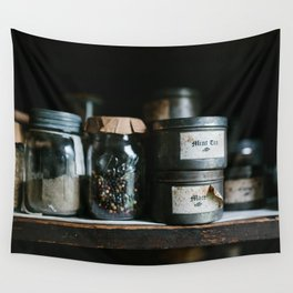 Vintage Pantry & Spices Wall Tapestry