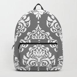 Grey Damask Backpack