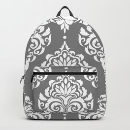 Grey Damask Backpack