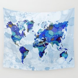 Design 105 world map Wall Tapestry