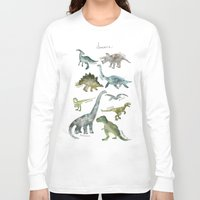 dinosaurs Long Sleeve T-shirts featuring Dinosaurs by Amy Hamilton