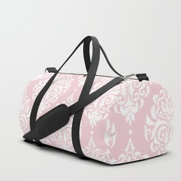 Pink Damask Duffle Bag