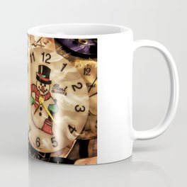 Vintage TimePieces Displaying a SnowMan Face Coffee Mug