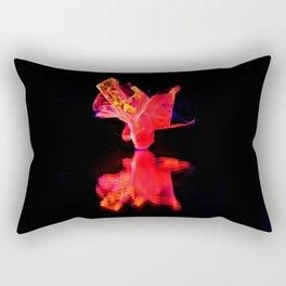 Fire Bloom. Rectangular Pillow