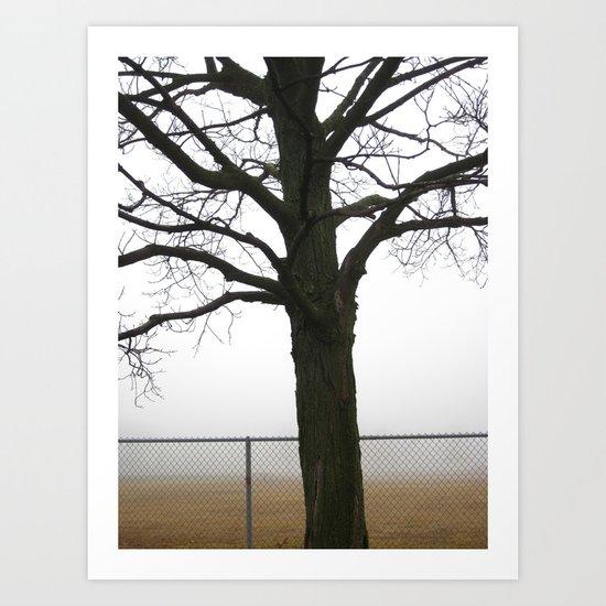 It Sends The Fog To Fetch Me Art Print