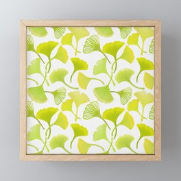 First Day of Autumn Ginkgo Leaves Framed Mini Art Print