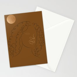 African American woman magic melanin beauty  Stationery Cards